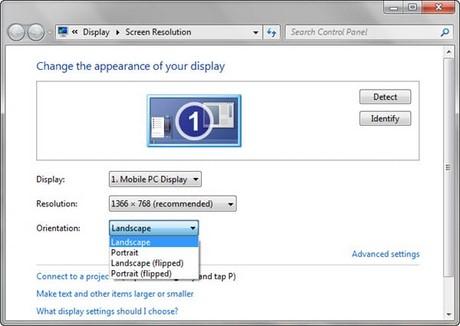 Cách để xoay màn hình trên Windowns 7