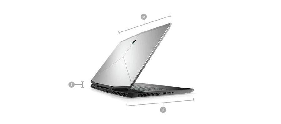 Alienware m17 Gaming Laptop-Kích thước & Trọng lượng