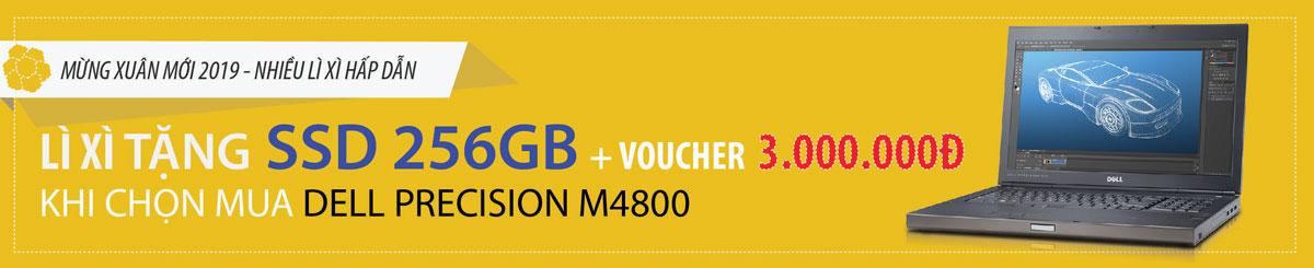 Baner bán dell precision m4800 tặng ổ cứng ssd 256