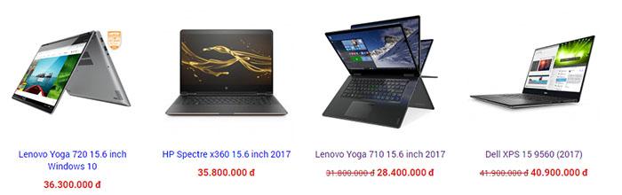 Các laptop mỏng nhẹ giá rẻ