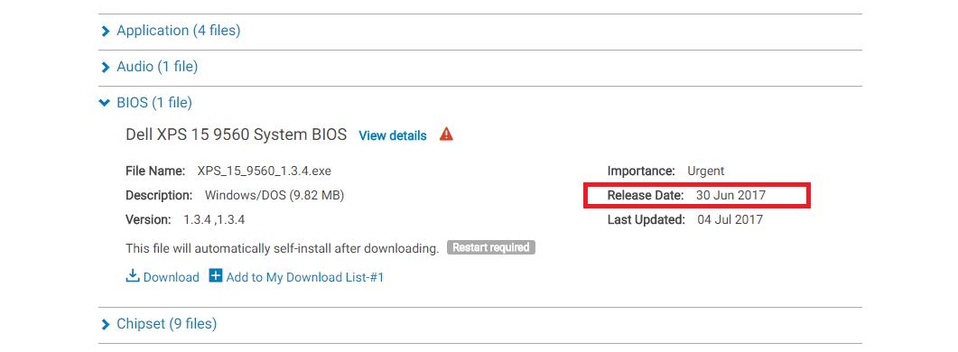 Dell phát hành bản vá lỗi BIOS cho XPS 15 9560